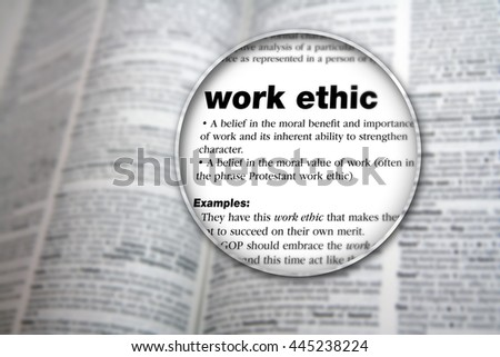 Concept design for the word 'Work Ethic'. #445238224