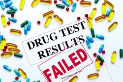 concept drug test results are failed with pills