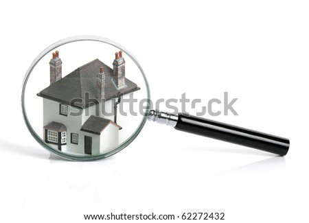 Concept for home inspection or searching for a house