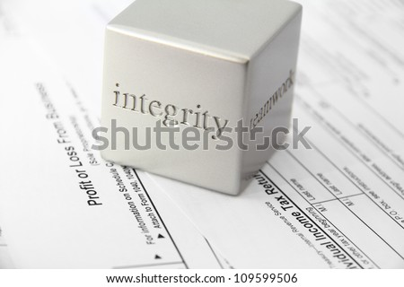 Concept for honesty and integrity in tax preparation.