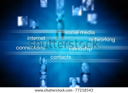 concept for social media and networking
