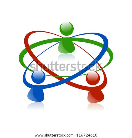 Concept for social media, social network, teamwork, business meeting, business team, people communicating, friends, family, community, unity and scientists.