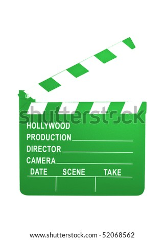 Concept Hollywood green money making slate - stock photo