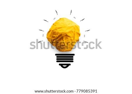 concept idea paper light bulb...