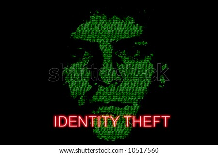Concept image highlighting the risk of identity theft - stock photo