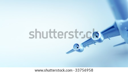 Concept image of airplane