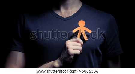 Concept image of alter ego - stock photo