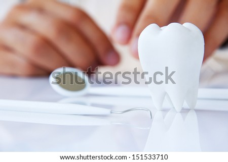 concept image of dental