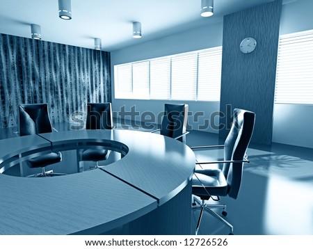 concept image of empty boardroom meeting area (3D)