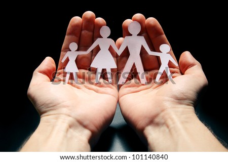 Concept image of family protection