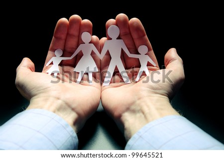 Concept image of family protection #99645521