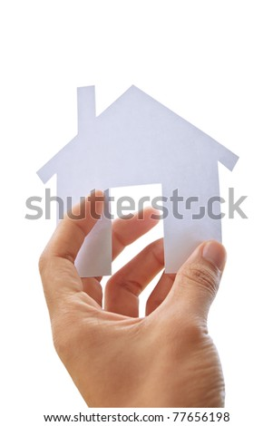 Concept image of make your house isolate background - stock photo