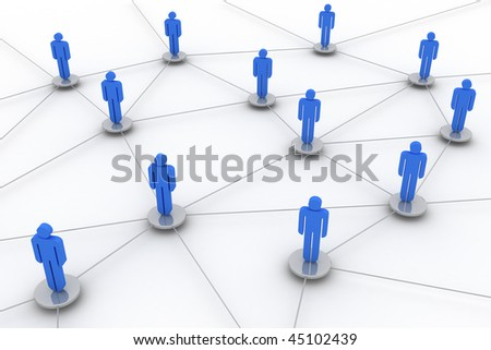Concept image representing network, networking, connection, social networks, www,...