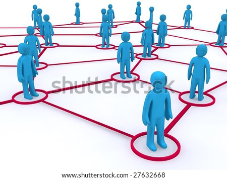 Concept image representing networking. This image is 3d render.