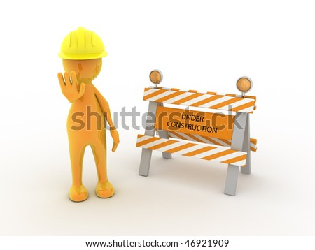 Concept image representing work in progress, under construction,...