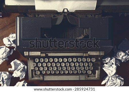 Concept image with old typewriter #285924731