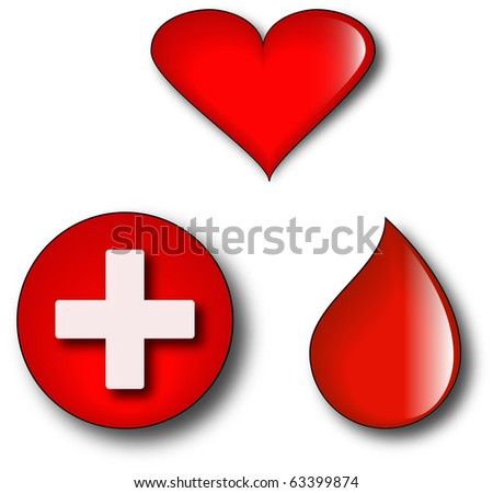 Concept logos representing blood donation and good will