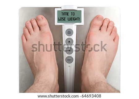 Concept: Lose weight. Isolation on white