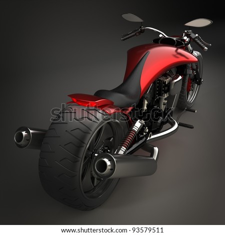 concept motorcycle (No trademark issues  is my own design) High resolution 3D