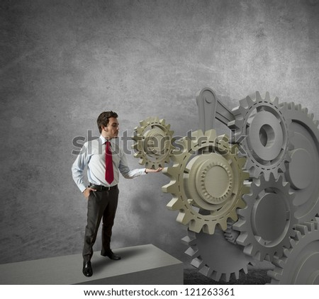 Concept of a businessman and mechanism of business