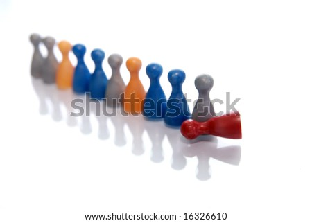 Concept of a multi-colored crowd