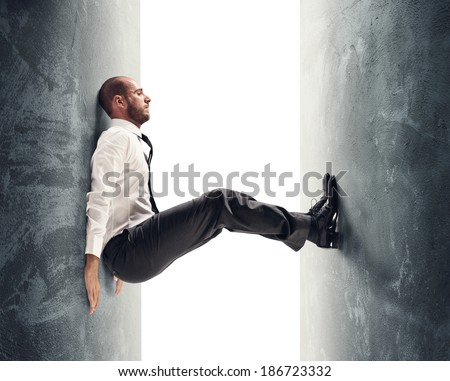 Concept of a stressed businessman under pressure Сток-фото ©
