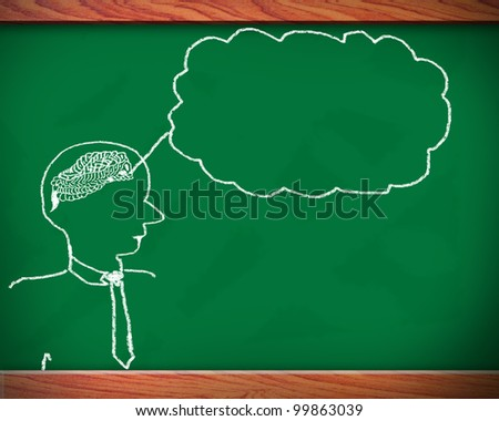 Concept of  ability in human brain. Graph with colorful chart on blackboard