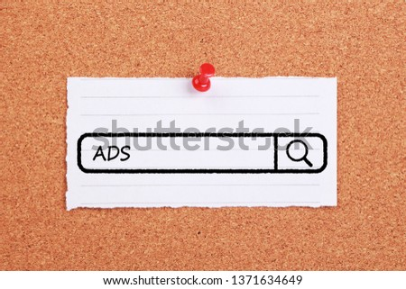 Concept Of ADS For The Business Use. #1371634649