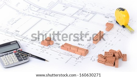 Concept of an architect planning a house  - stock photo