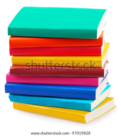 Concept of books isolated on a white background