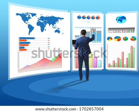 Concept of business charts and finance visualisation Photo stock ©