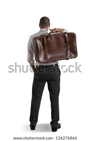 Concept of businessman and travel - stock photo