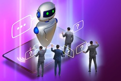 Concept of chat bot in modern business communication