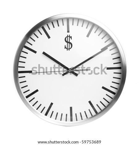 Concept of clock and dollar.