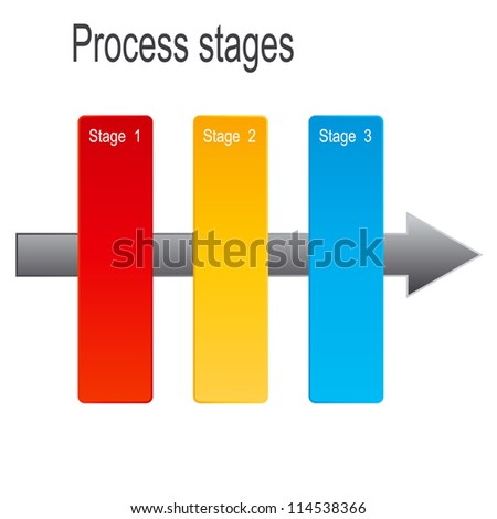 Concept of colorful banners with arrows for different business design.  Raster version illustration
