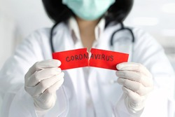 Concept of coronavirus quarantine. MERS-Cov.