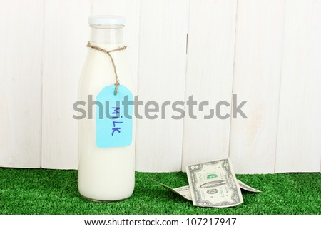 Concept of delivery milk