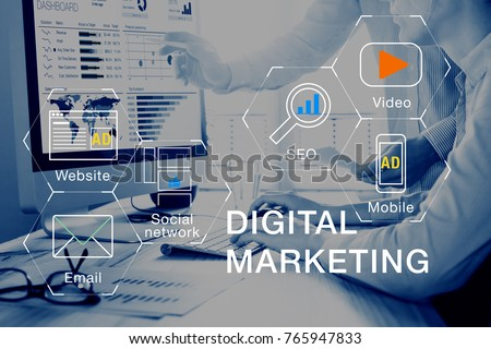concept of digital marketing...