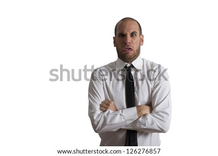 Concept of disgusted businessman