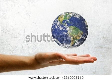 Concept of earth in danger (Pollution, global warming, climate change, deforestation, species extinction, overpopulation and so on)