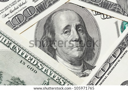 Concept of economical crisis - saddened Franklin cry on the hundred dollar bill