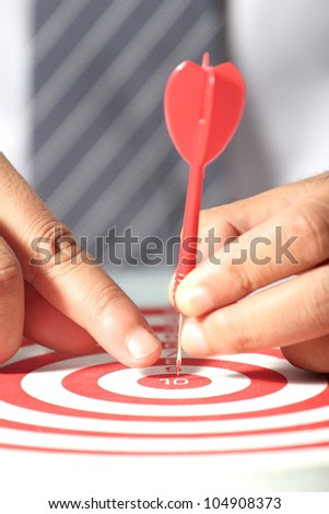 Concept of for business targets success