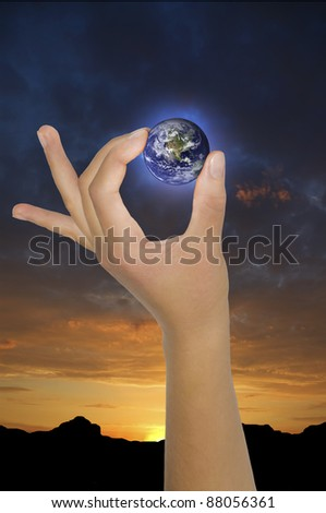concept of global environment.abstract composition.