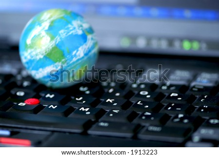 Concept of global internet connectivity or international business
