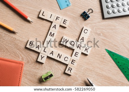 Concept of harmony and balance between work and family #582269050