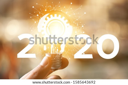 Concept of idea and innovation Creative idea concept