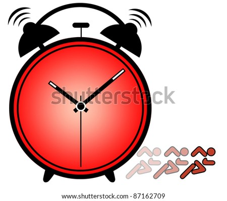 Concept of importance of time showing ringing alarm clock
