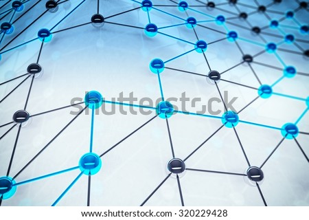 Concept of interconnection spheres connected each other - Shutterstock ID 320229428