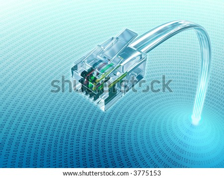 Concept of internet using the Virtual 3D Cable.