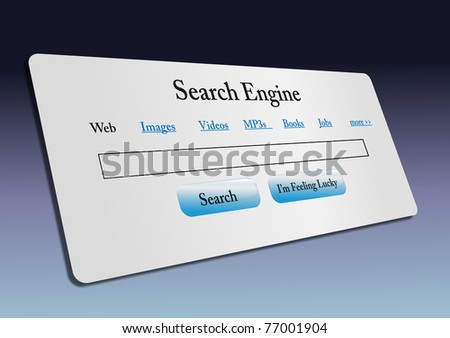 Concept of Internet web search engine.